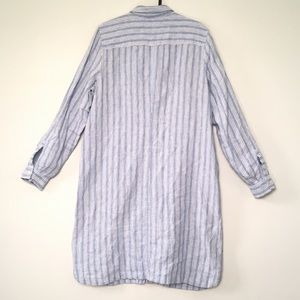 J. Jill Dresses - J.Jill Love Linen stripe shirt dress long sleeve